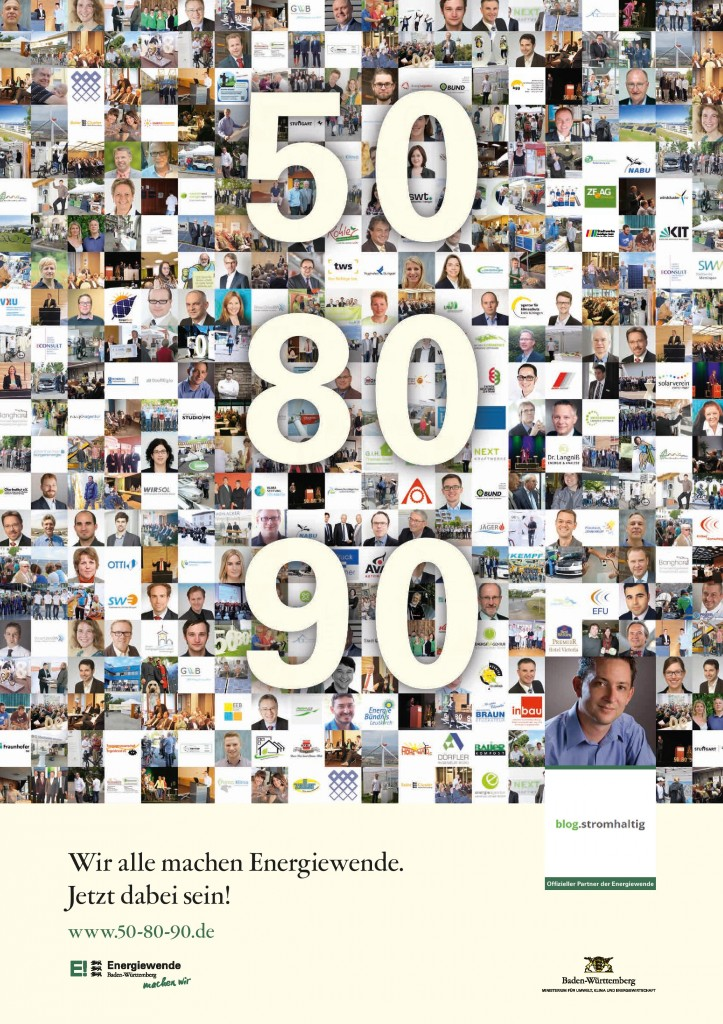 Plakat zur Kampagne: 50-80-90
