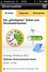 Stromwetter App