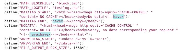Identifizierungscode HAVEX / PHP RTP