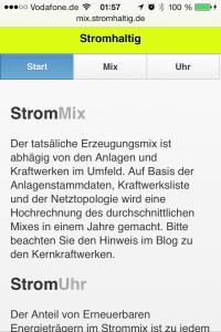 Mobiler Strommix Navigator