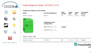 OGEMA Kühlschrank Überwachung