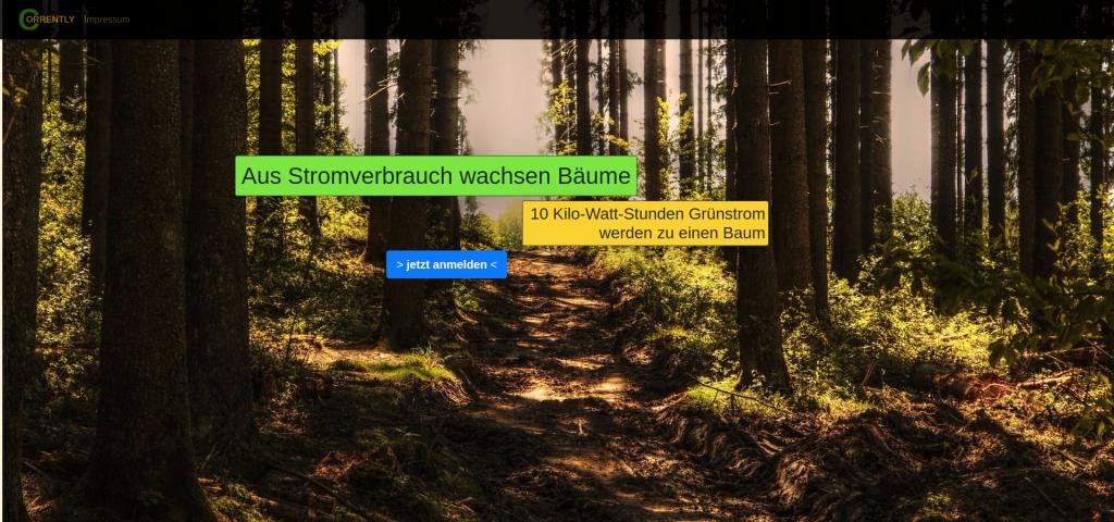 Stromtarif der Bäume pflanzt - Gameification für Ökostrom 1