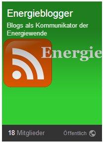Google-Plus Gruppe: Blogs als Kommunkator der Energiewende