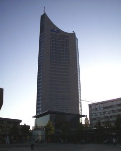 Uniriese in Leipzig (Sitz der EEX/Strombörse)