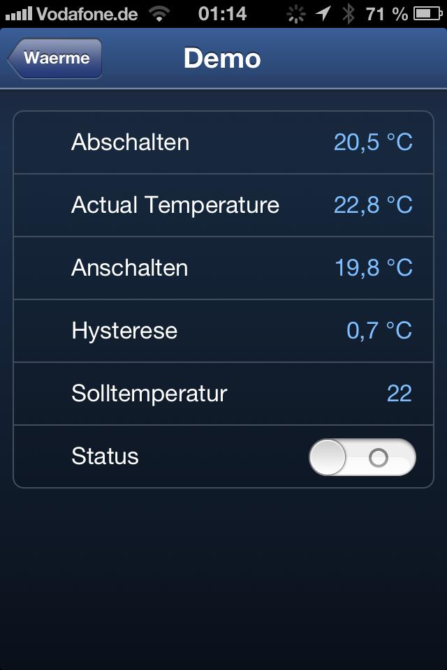 Wettervorhersage steuert Heizung