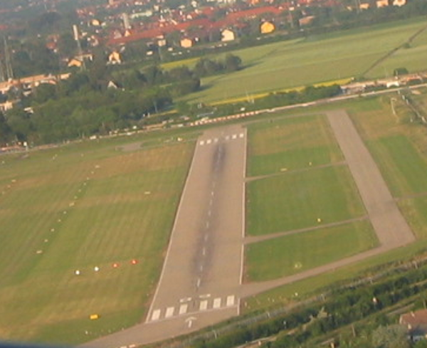 Landeanflug in Mannheim