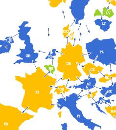 Europäischer Strom-Lastfluss 16.06.2013 - 15:00-16:00 Uhr (Quelle: Entsoe)