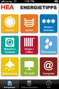 HEA bietet kostenloses iOS App zur Energieberatung 1