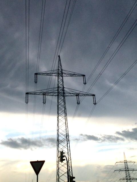 Oberhausen - Schwankungen in der Spannung des Hochspannungsnetzes 1