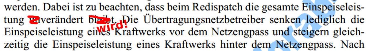 Redispatch: Korrektur zur kleinen Anfrage der Grünen notwendig? 1