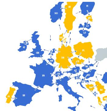 Europäischer Stromfluss 25.03.2013 (Quelle: Entsoe)