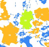Strom Import/Export - Deutschland 24.01.2013