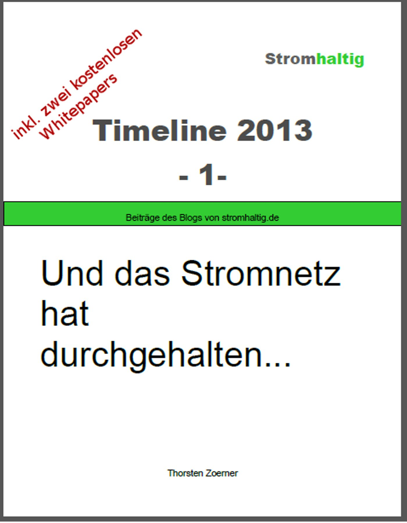 Timeline 2013-1 Cover