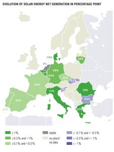 Zubau Photovoltaik 2014 in Europa